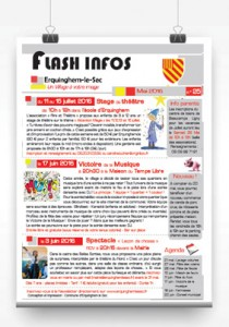Flash-Infos pince mai 2016